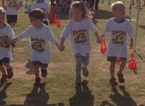 kids running in Boosterthon